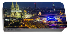 Night Falls Upon Cologne 2 Portable Battery Charger