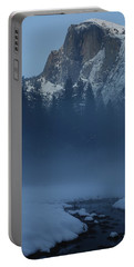 Portable Battery Charger featuring the photograph Night Falls Upon Half Dome At Yosemite National Park by Jetson Nguyen