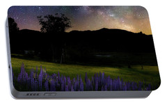 Portable Battery Charger featuring the photograph Night Flowers Square by Bill Wakeley