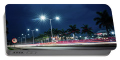 Night Lights In Montego Bay City Portable Battery Charger