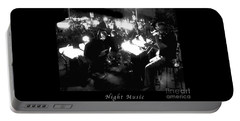 Night Music Poster Portable Battery Charger by Felipe Adan Lerma