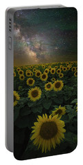 Portable Battery Charger featuring the photograph Night Of A Billion Suns by Aaron J Groen