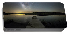 Night On The Dock Portable Battery Charger by Aaron J Groen