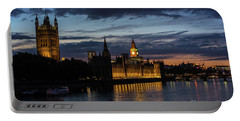Night Parliament And Big Ben Portable Battery Charger