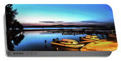 Night Port Painting Portable Battery Charger