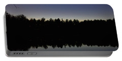 Night Reflects On The Pond Portable Battery Charger
