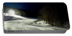 Portable Battery Charger featuring the photograph Night Skiing At Mccauley Mountain by David Patterson