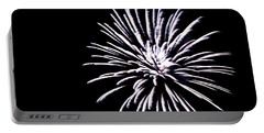 Portable Battery Charger featuring the photograph Night Sky Fireworks by Suzanne Luft