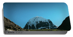 Portable Battery Charger featuring the photograph Night Sky Holy Kailas Himalayas Tibet Yantra.lv by Raimond Klavins