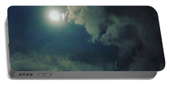 Looking At The Moon Portable Battery Charger