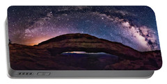 Night Sky Over Mesa Arch Utah Portable Battery Charger