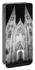 Night St Patrick's Cathedral  Portable Battery Charger