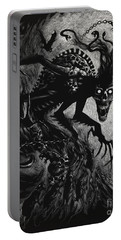 Portable Battery Charger featuring the drawing Night Terror by Stanley Morrison