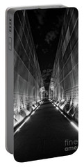 Night Time At Empty Sky Memorial Portable Battery Charger by Nicki McManus