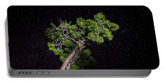 Portable Battery Charger featuring the photograph Night Tree by T Brian Jones