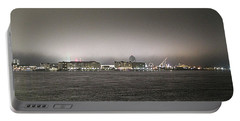 Night View Ocean City Downtown Skyline Portable Battery Charger by Robert Banach