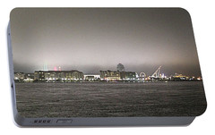 Portable Battery Charger featuring the photograph Night View Ocean City Downtown Skyline by Robert Banach