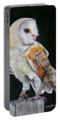 Portable Battery Charger featuring the painting Night Watch by Phyllis Beiser