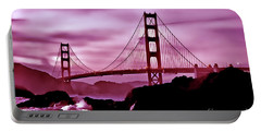 Nightfall At The Golden Gate Portable Battery Charger
