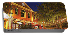 Nightime In Newburyport Portable Battery Charger
