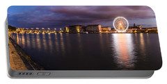 Nightly Panorama Of The Garonne River And Pont Neuf Portable Battery Charger by Semmick Photo