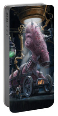 Portable Battery Charger featuring the digital art Nightmare Victorian Flesh Creature Horror by Martin Davey