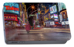 Nights On Broadway Portable Battery Charger by Az Jackson
