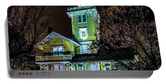 Portable Battery Charger featuring the photograph Nighttime Fog At Hereford Inlet by Nick Zelinsky