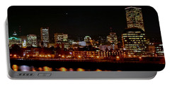 Nighttime In Pdx Portable Battery Charger