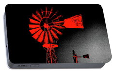 Portable Battery Charger featuring the digital art Nightwatch by Wendy J St Christopher