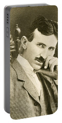 Nikola Tesla, Serbian-american Inventor Portable Battery Charger by Photo Researchers