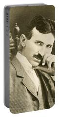 Nikola Tesla, Serbian-american Inventor Portable Battery Charger