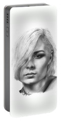 Nina Nesbitt Drawing By Sofia Furniel Portable Battery Charger