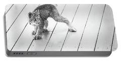 Ninja Lynx Kitty Bw Portable Battery Charger