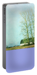 Portable Battery Charger featuring the photograph Nisqually Barns by Jean OKeeffe Macro Abundance Art