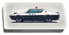 Nissan Skyline Gt-r C110 Japan Police Car Portable Battery Charger