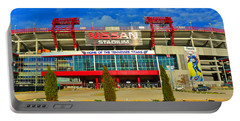 Nissan Stadium Home Of The Tennessee Titans Portable Battery Charger