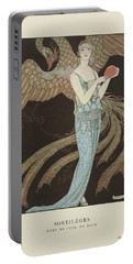 No. 9  Sortileges Robe Du Soir, De Beer, George Barbier, 1922 Portable Battery Charger by George Barbier