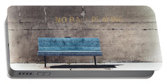 No Ball Playing - Bench Portable Battery Charger