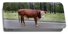 Portable Battery Charger featuring the photograph No Bull by Roberta Byram