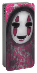 No Face  Portable Battery Charger by Abril Andrade Griffith