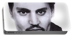 Johnny Depp Drawing By Sofia Furniel Portable Battery Charger