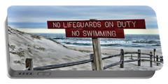 Portable Battery Charger featuring the photograph No Lifeguards On Duty by Paul Ward