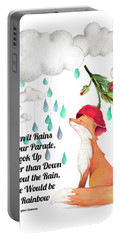 Portable Battery Charger featuring the digital art No Rain On My Parade by Colleen Taylor
