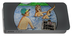No Skinny Dipping Portable Battery Charger