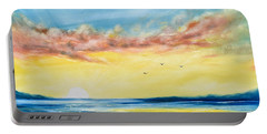 No Stress - Sunset Painting Portable Battery Charger