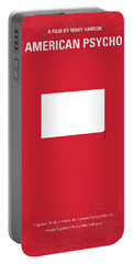 No005 My American Psyhco Minimal Movie Poster Portable Battery Charger