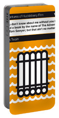 No012-my-huckleberry Finn-book-icon-poster Portable Battery Charger