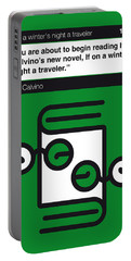 No014-my-if On A Winter's Night A Traveler-book-icon-poster Portable Battery Charger