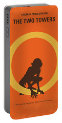 No039-2 My Lotr 2 Minimal Movie Poster Portable Battery Charger